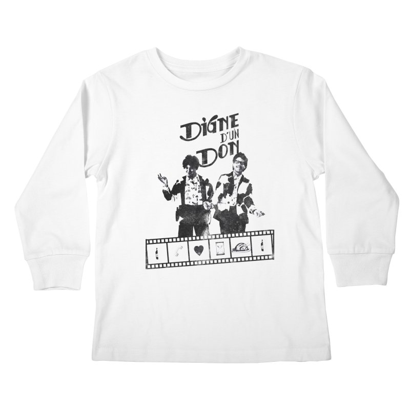 Ding et Dong Kids Longsleeve T-Shirt by Chaudaille
