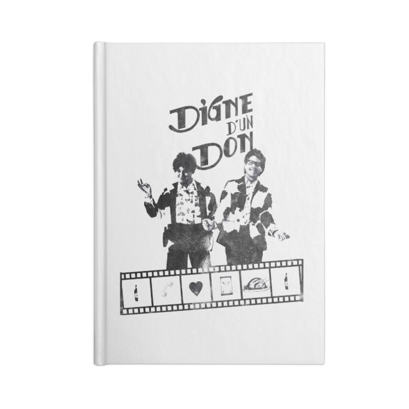 Ding et Dong Accessories Blank Journal Notebook by Chaudaille