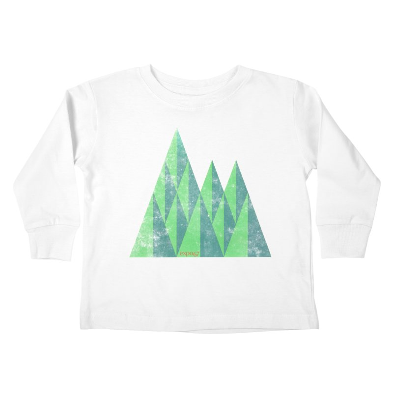 Art Expo 67 Kids Toddler Longsleeve T-Shirt by Chaudaille