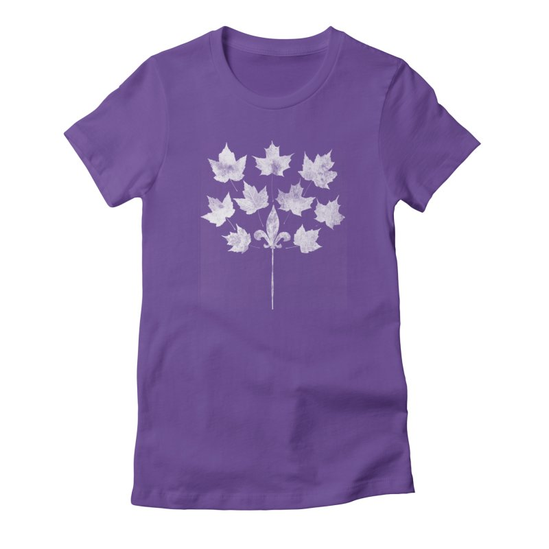 L'Érable et le Lys in Women's Fitted T-Shirt Purple by Chaudaille
