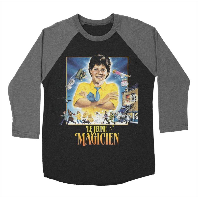 Le Jeune Magicien Men's Baseball Triblend Longsleeve T-Shirt by Chaudaille
