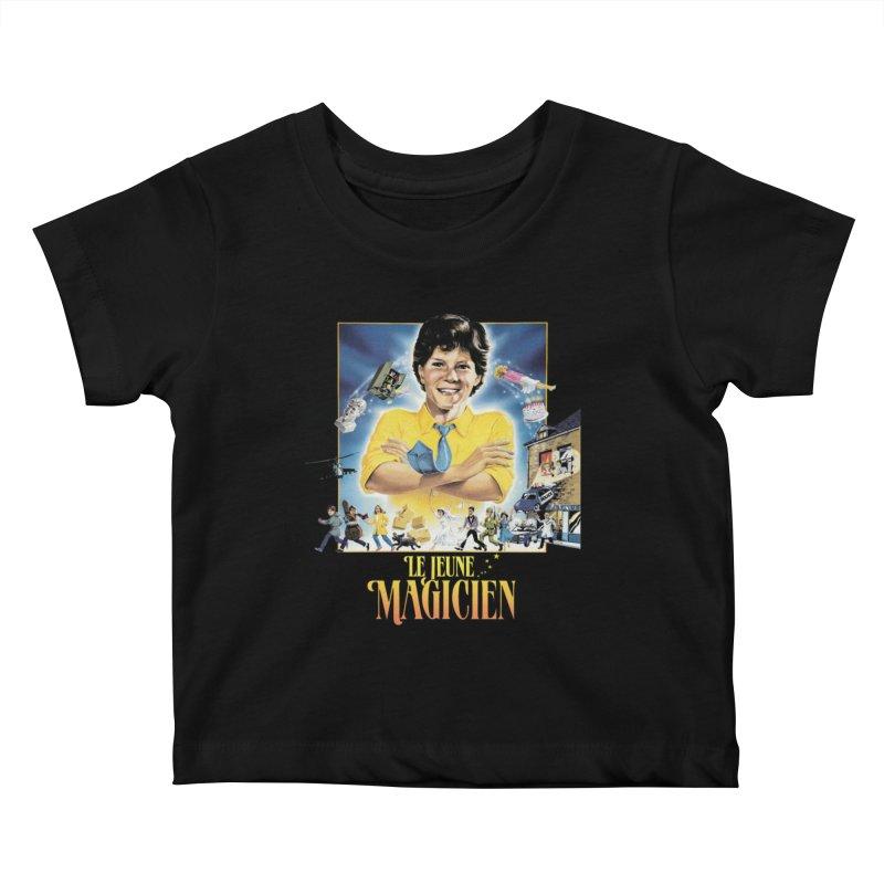 Le Jeune Magicien Kids Baby T-Shirt by Chaudaille