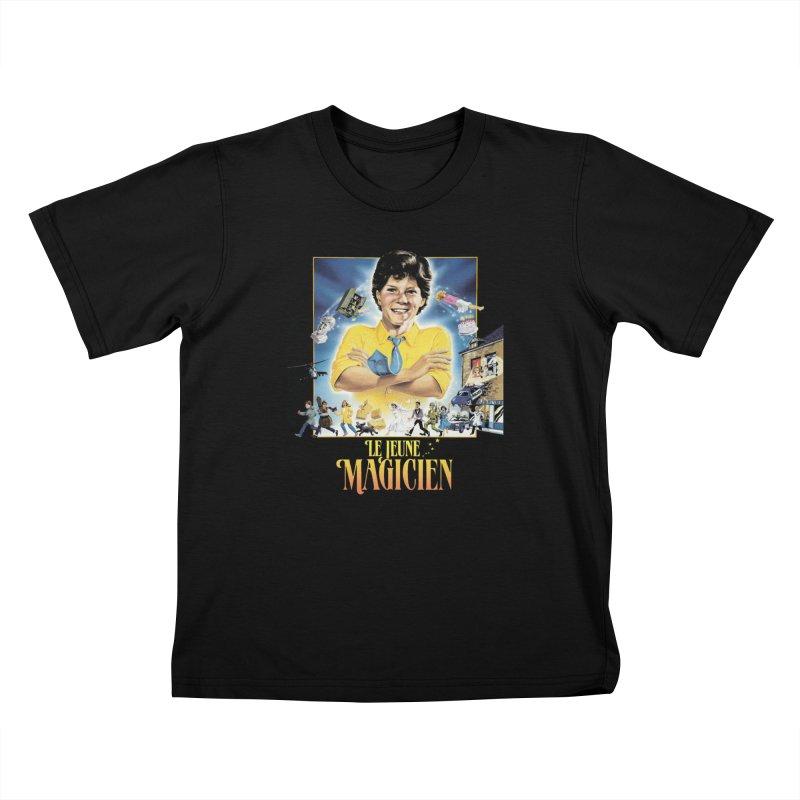 Le Jeune Magicien Kids T-Shirt by Chaudaille
