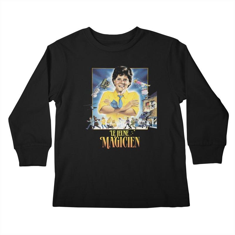 Le Jeune Magicien Kids Longsleeve T-Shirt by Chaudaille