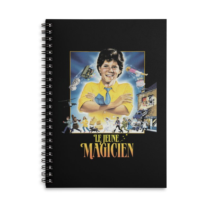 Le Jeune Magicien Accessories Lined Spiral Notebook by Chaudaille
