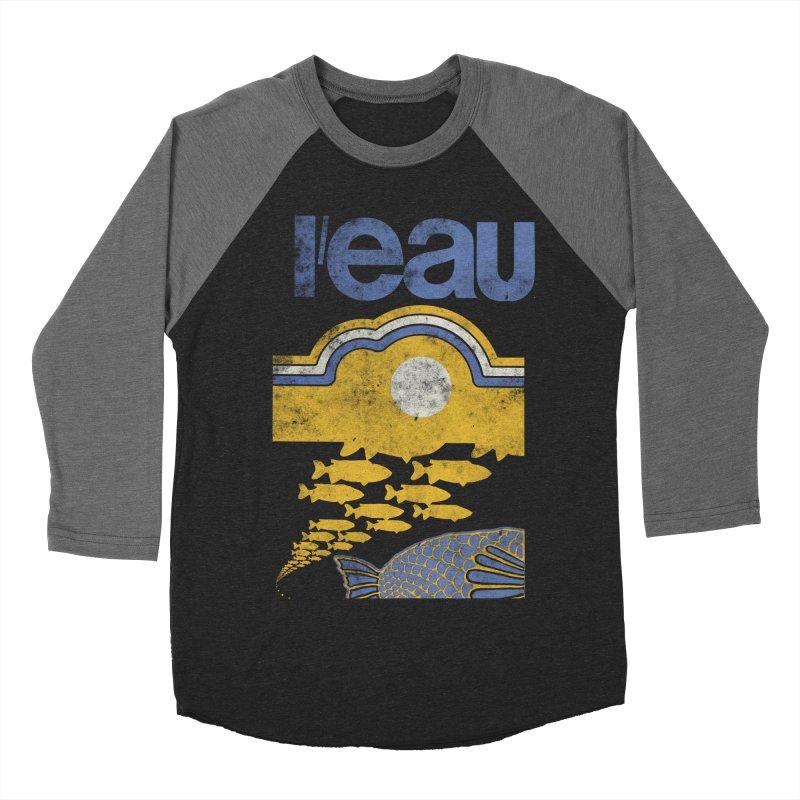 L'eau Men's Baseball Triblend T-Shirt by Chaudaille