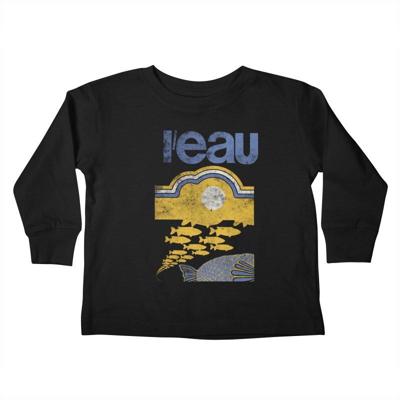 L'eau Kids Toddler Longsleeve T-Shirt by Chaudaille