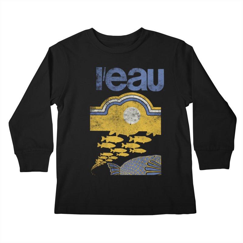 L'eau Kids Longsleeve T-Shirt by Chaudaille