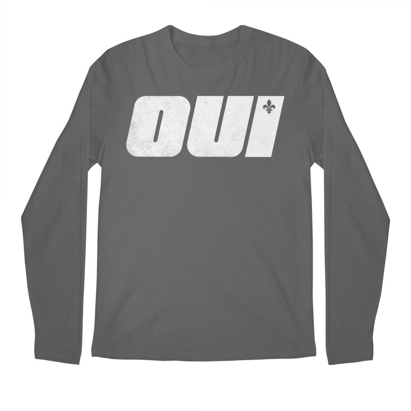Oui Men's Longsleeve T-Shirt by Chaudaille