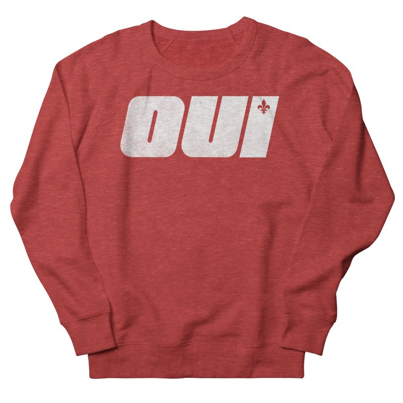 Oui Men's French Terry Sweatshirt by Chaudaille