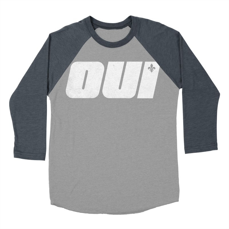 Oui Women's Baseball Triblend Longsleeve T-Shirt by Chaudaille