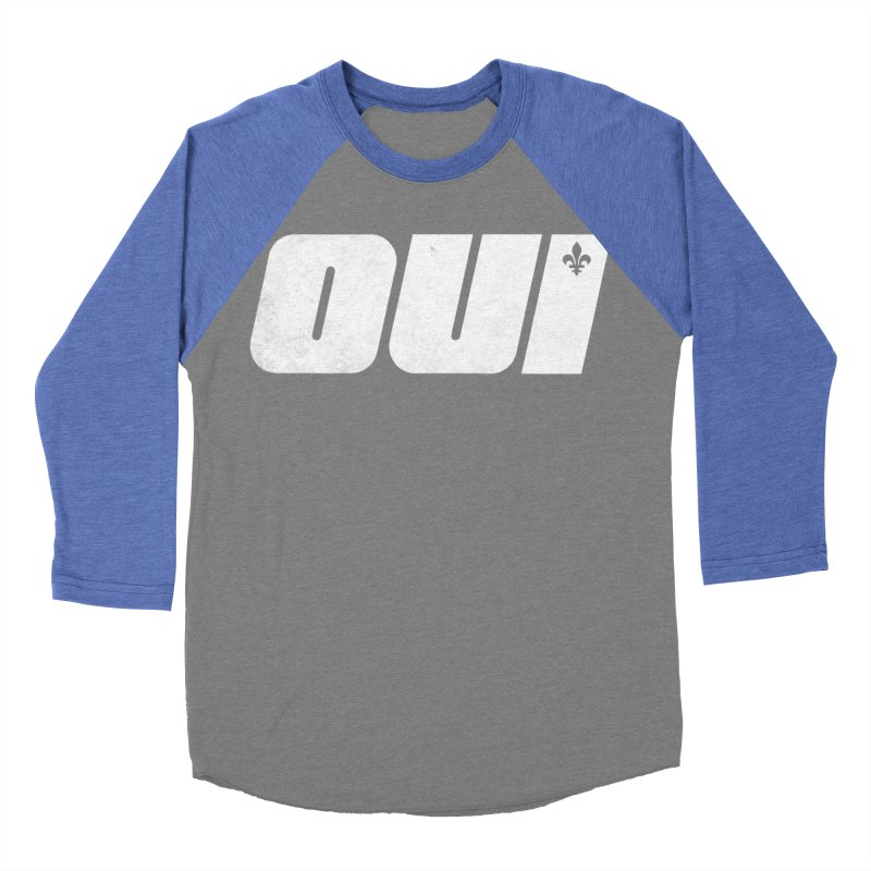 Oui Men's Baseball Triblend Longsleeve T-Shirt by Chaudaille