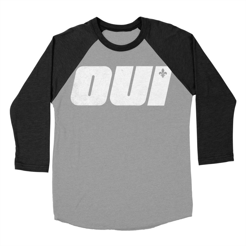 Oui Men's Baseball Triblend Longsleeve T-Shirt by Chaudaille