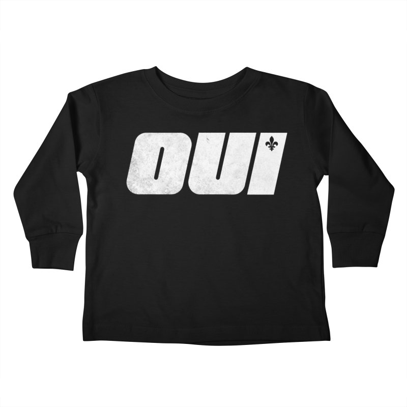 Oui Kids Toddler Longsleeve T-Shirt by Chaudaille