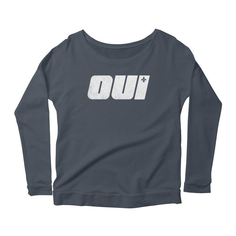 Oui Women's Scoop Neck Longsleeve T-Shirt by Chaudaille