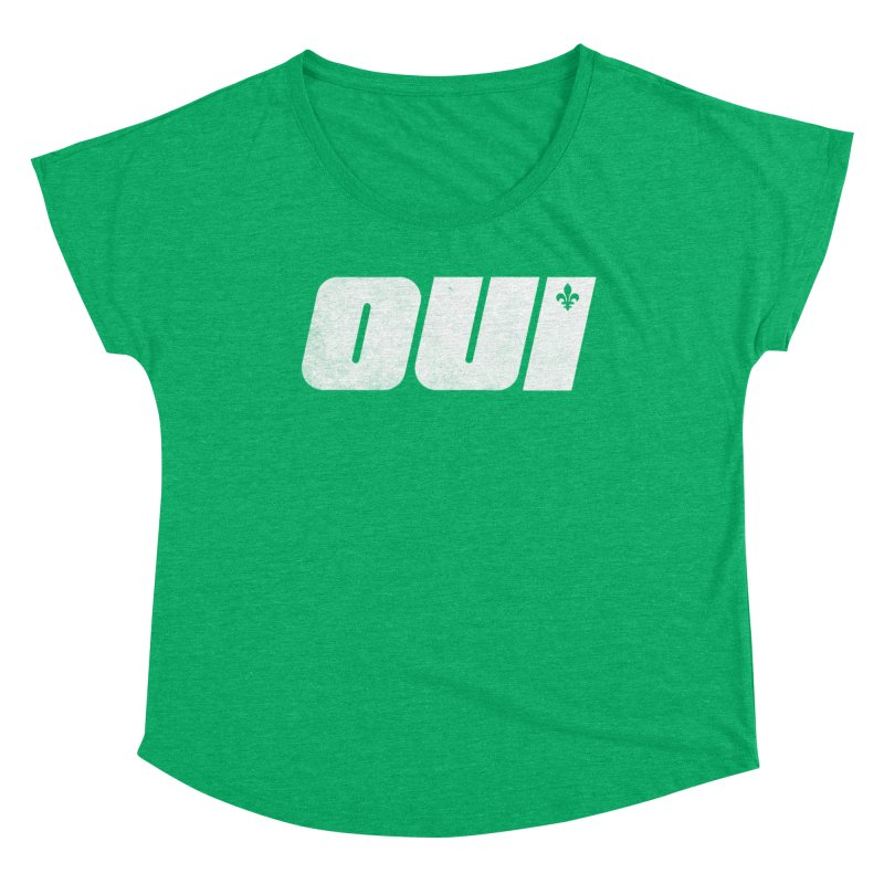 Oui Women's Scoop Neck by Chaudaille