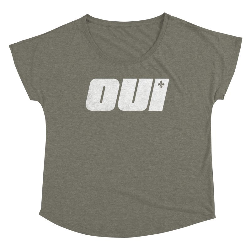 Oui Women's Scoop Neck by Chaudaille