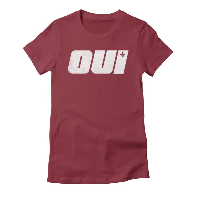 Oui Women's Fitted T-Shirt by Chaudaille
