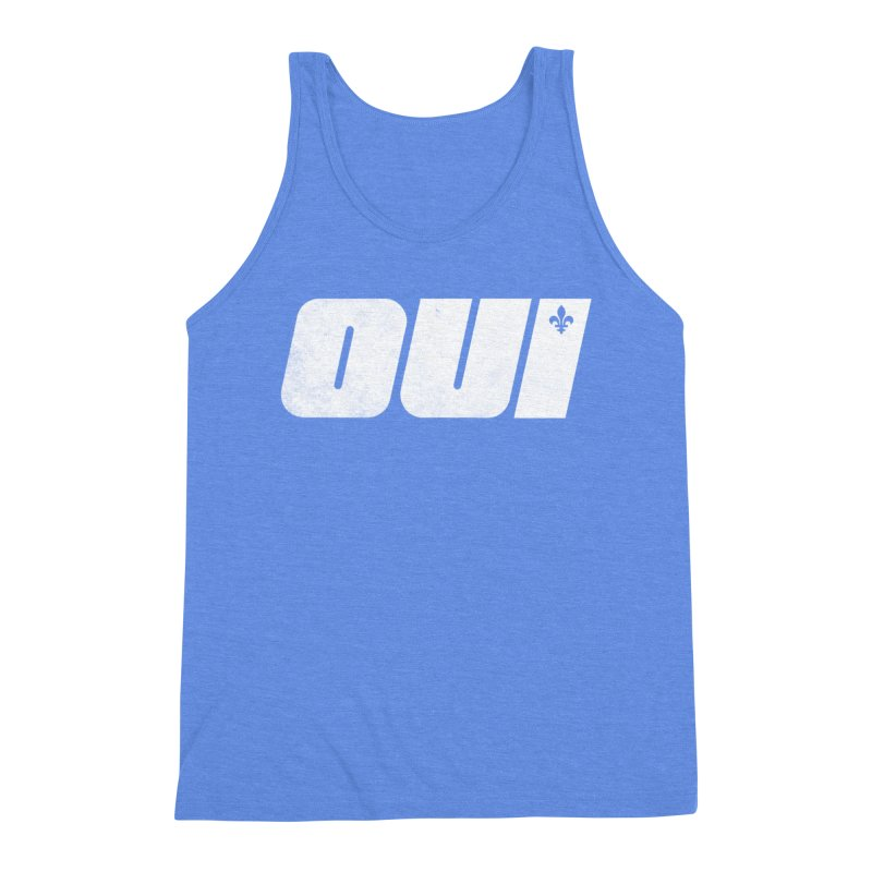Oui Men's Triblend Tank by Chaudaille