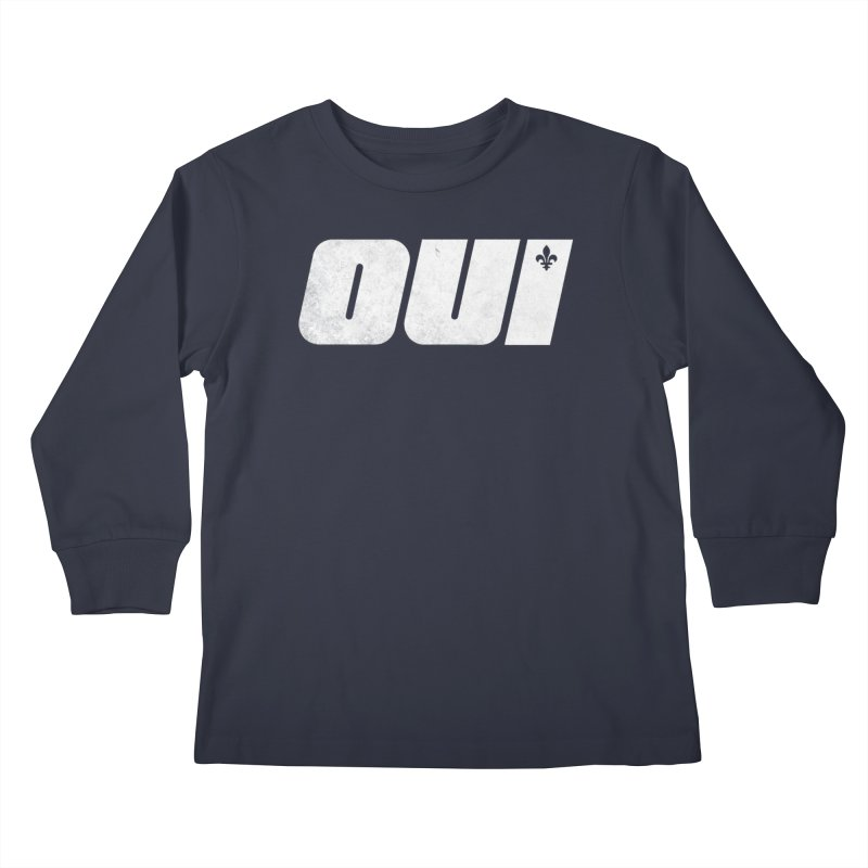 Oui Kids Longsleeve T-Shirt by Chaudaille