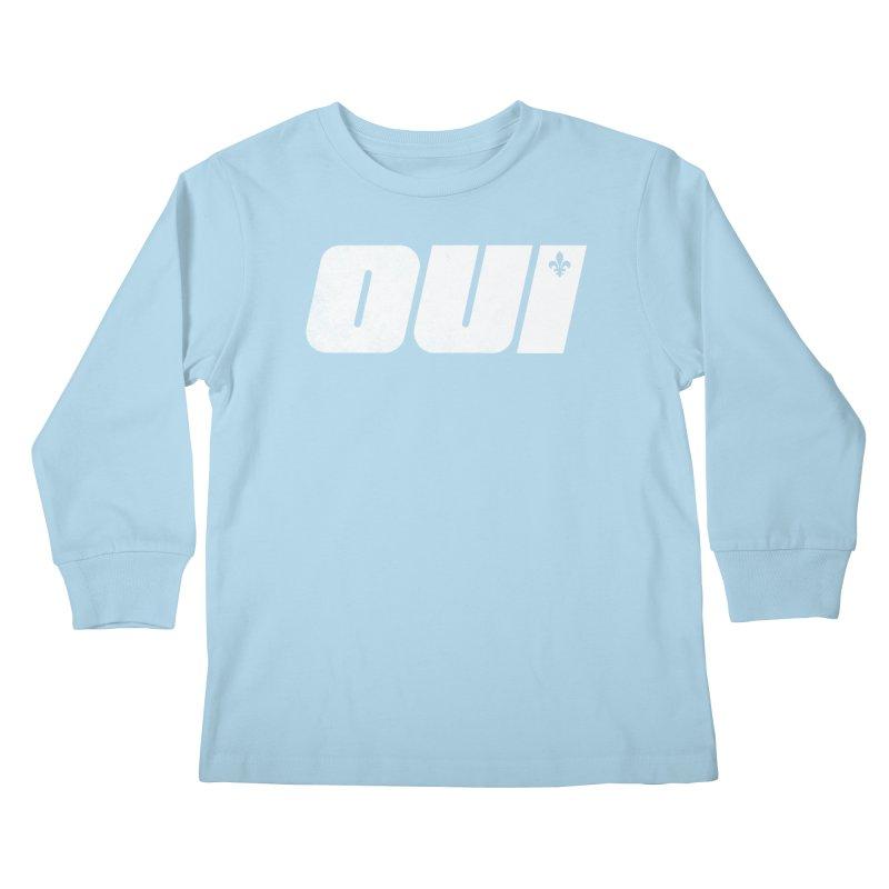 Oui Kids Longsleeve T-Shirt by Chaudaille