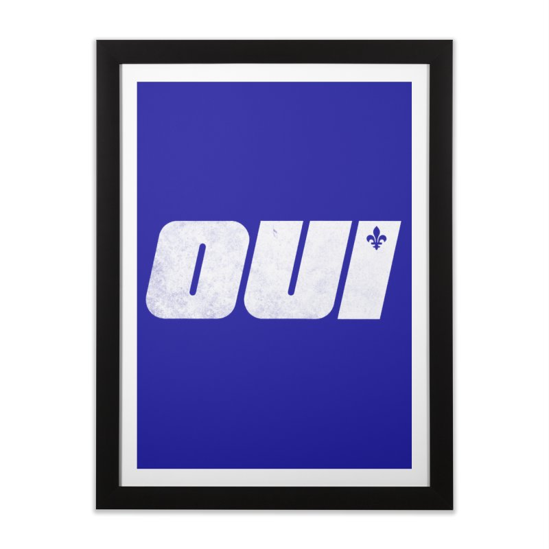 Oui Home Framed Fine Art Print by Chaudaille