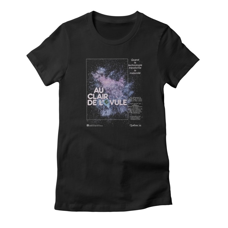 Au clair de l'ovule in Women's Fitted T-Shirt Black by Chaudaille