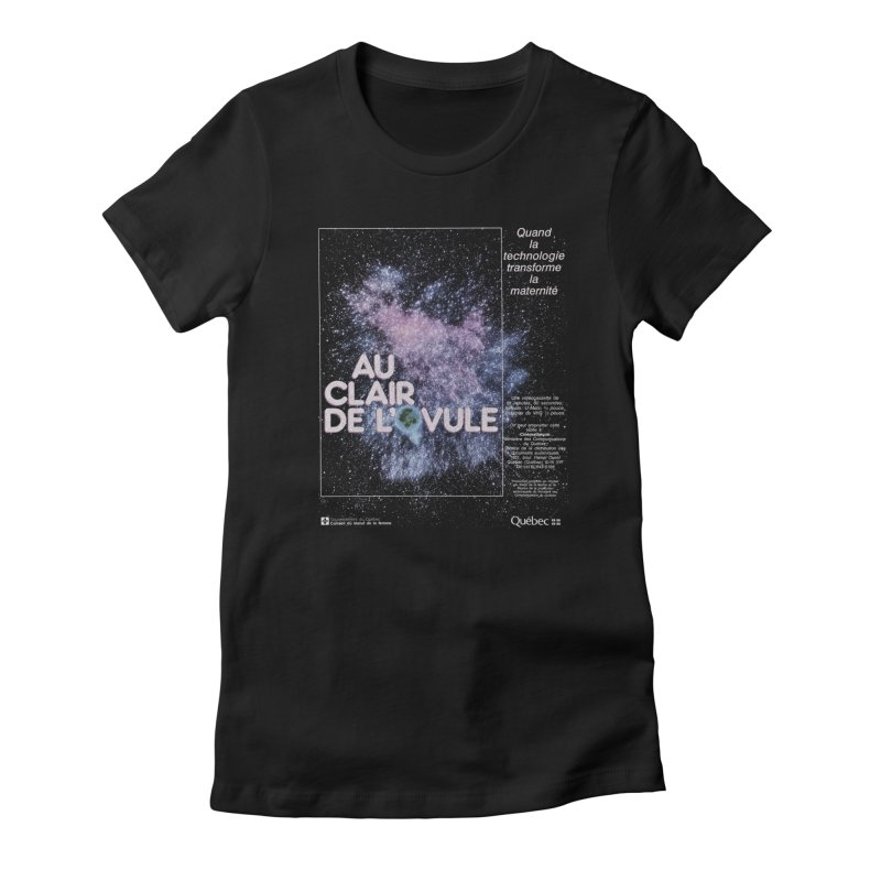 Au clair de l'ovule Women's Fitted T-Shirt by Chaudaille
