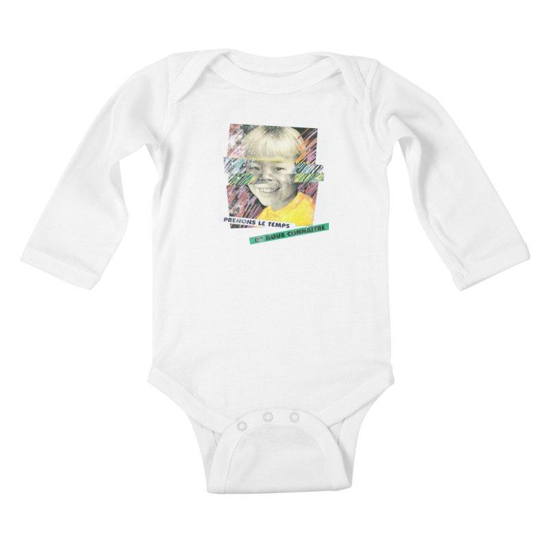Prenons le temps de nous connaitre Kids Baby Longsleeve Bodysuit by Chaudaille
