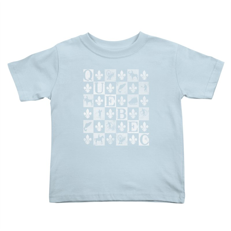 Québec in Kids Toddler T-Shirt Baby Blue by Chaudaille