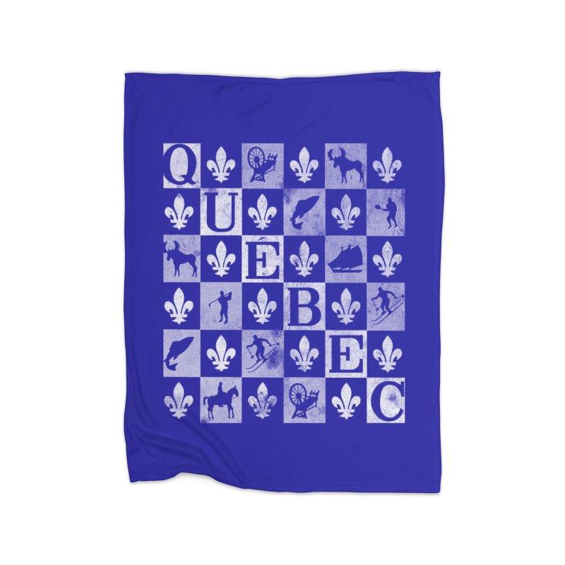 Québec Home Fleece Blanket Blanket by Chaudaille