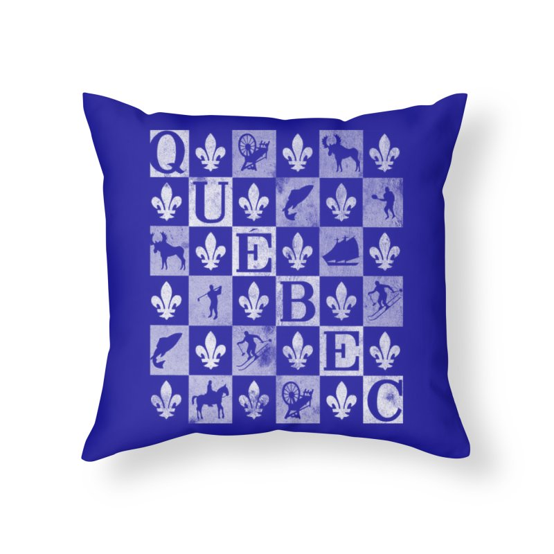 Québec in Throw Pillow by Chaudaille
