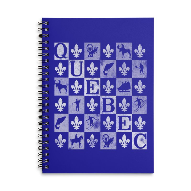 Québec Accessories Lined Spiral Notebook by Chaudaille