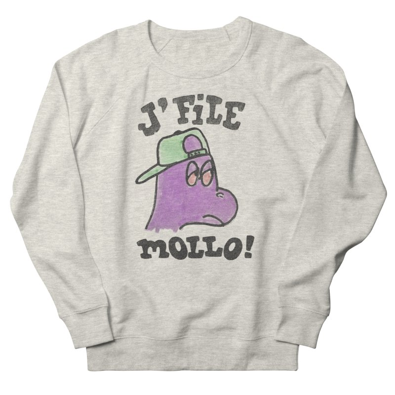 J'file mollo in Men's French Terry Sweatshirt Heather Oatmeal by Chaudaille