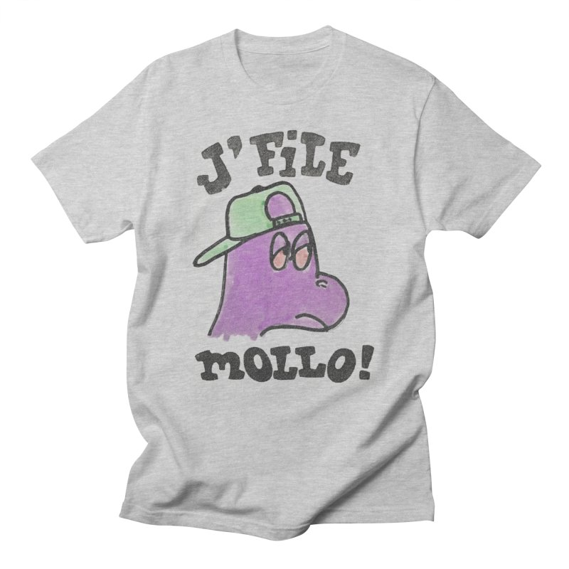 J'file mollo in Men's T-Shirt Heather Grey by Chaudaille