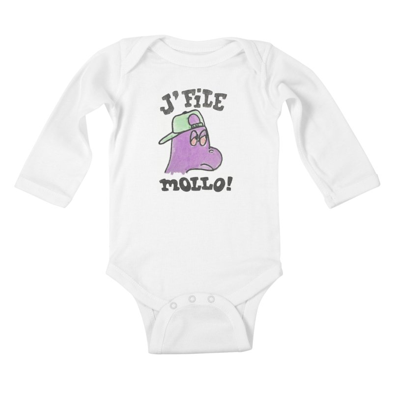 J'file mollo Kids Baby Longsleeve Bodysuit by Chaudaille