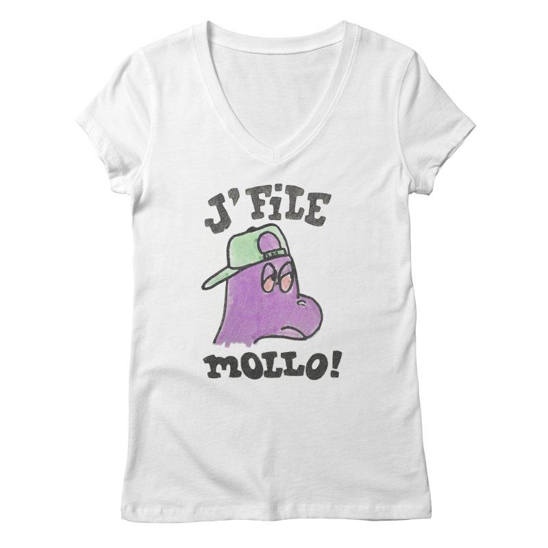 J'file mollo Women's V-Neck by Chaudaille