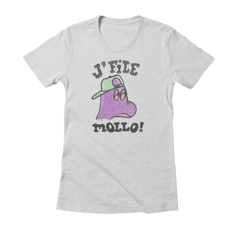 J'file mollo in Women's Fitted T-Shirt Heather Grey by Chaudaille