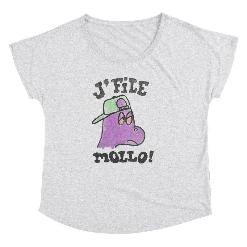 J'file mollo Women's Dolman Scoop Neck by Chaudaille