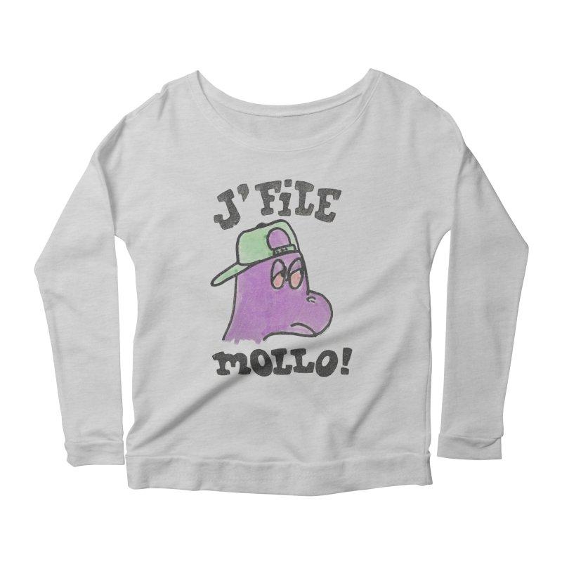 J'file mollo Women's Scoop Neck Longsleeve T-Shirt by Chaudaille