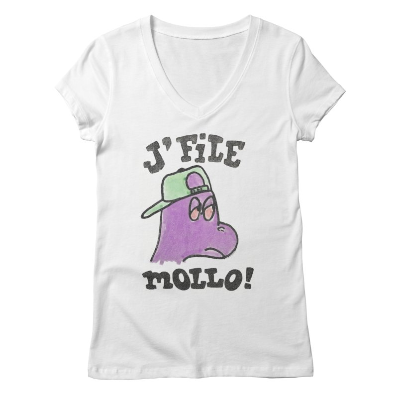 J'file mollo Women's Regular V-Neck by Chaudaille