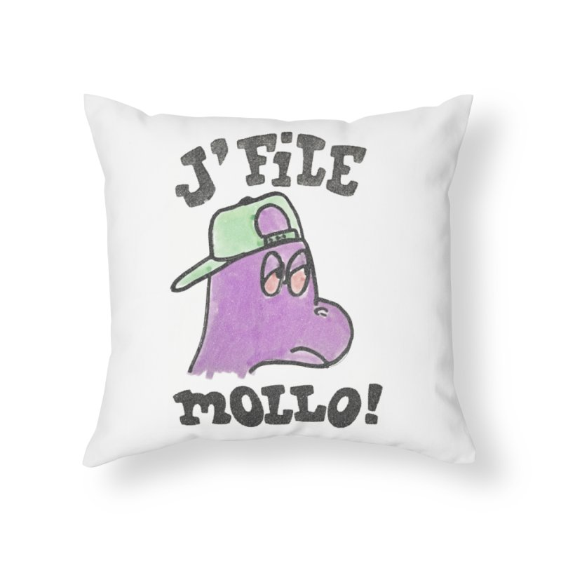 J'file mollo Home Throw Pillow by Chaudaille