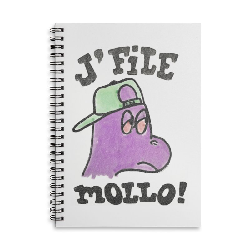 J'file mollo Accessories Lined Spiral Notebook by Chaudaille