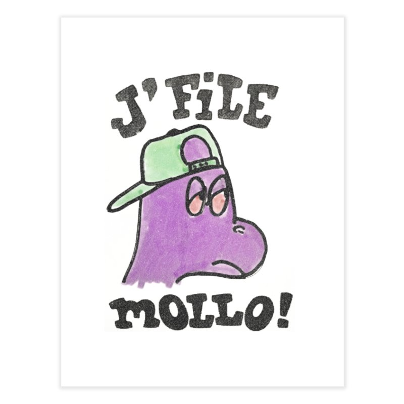 J'file mollo Home Fine Art Print by Chaudaille