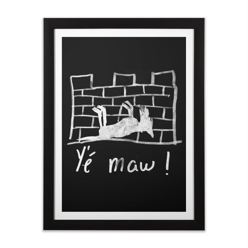 La guerre des tuques Home Framed Fine Art Print by Chaudaille