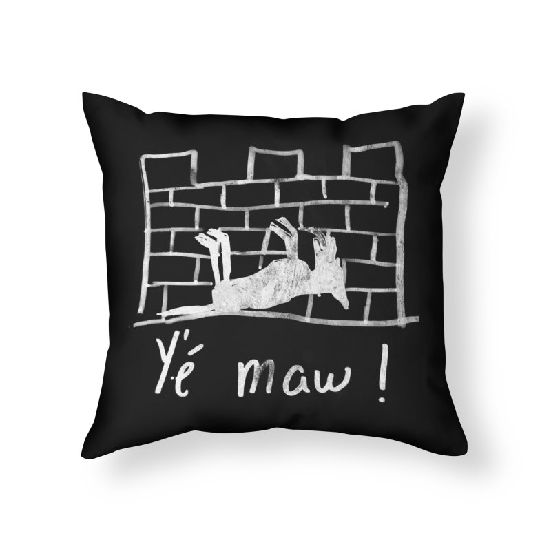 La guerre des tuques Home Throw Pillow by Chaudaille