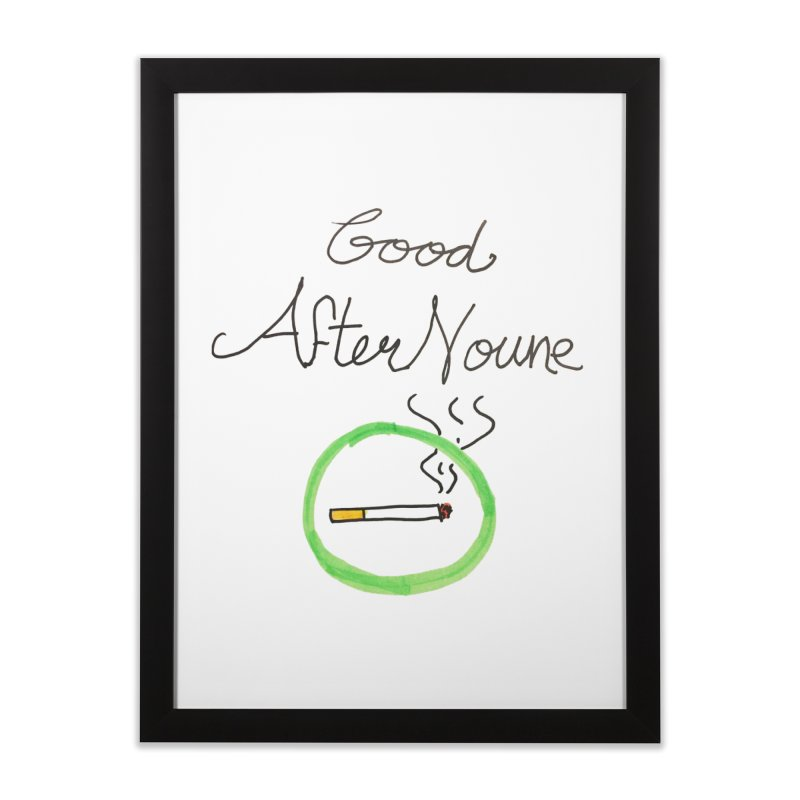 Good After Noune Home Framed Fine Art Print by Chaudaille