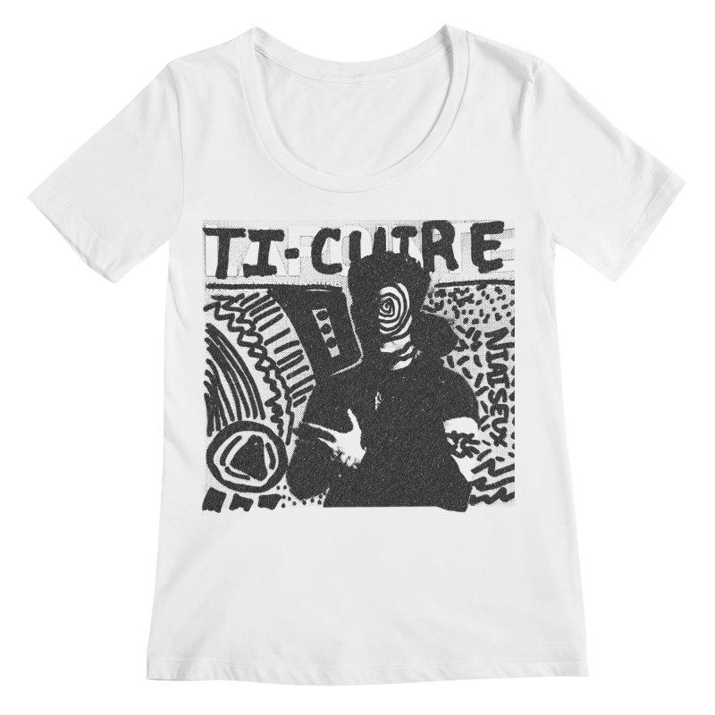 Ti-Cuir Women's Regular Scoop Neck by Chaudaille