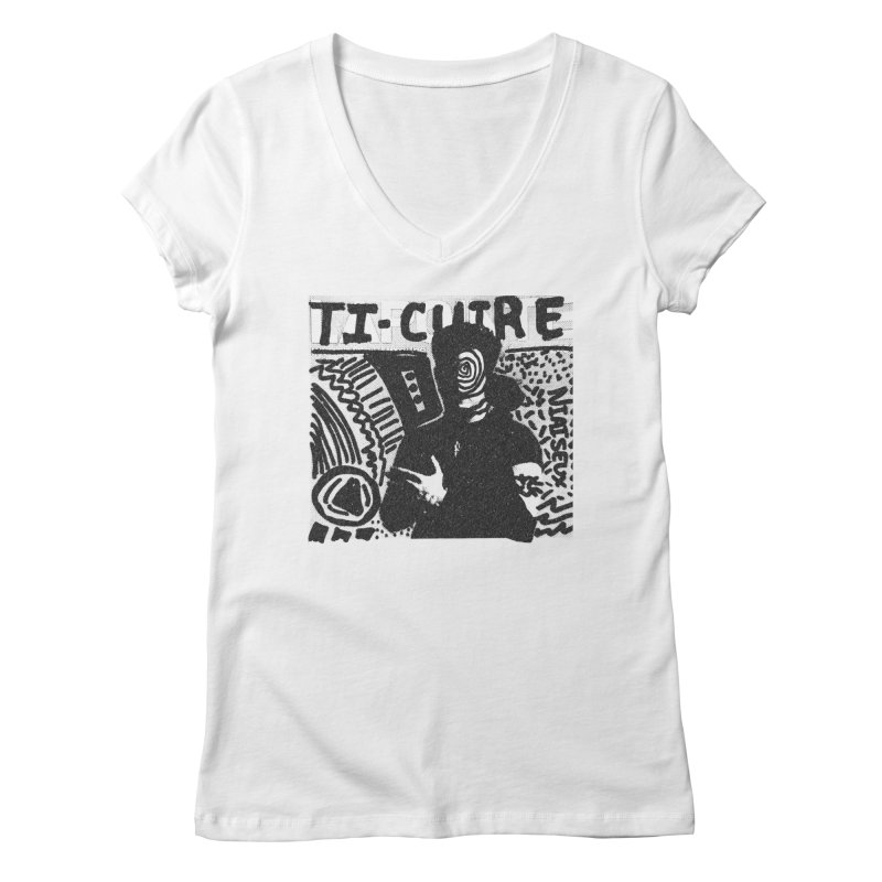 Ti-Cuir Women's Regular V-Neck by Chaudaille