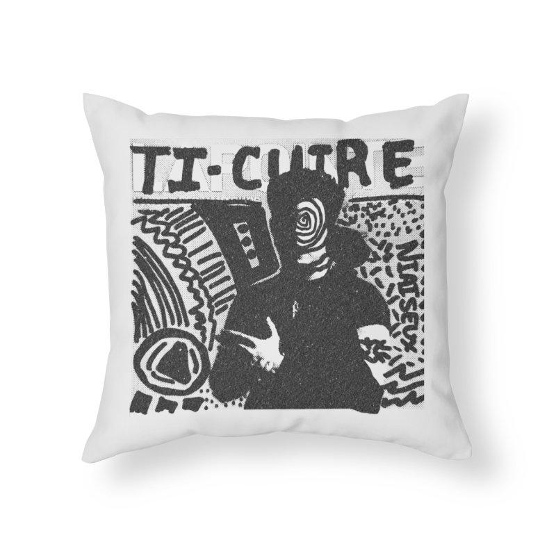 Ti-Cuir Home Throw Pillow by Chaudaille